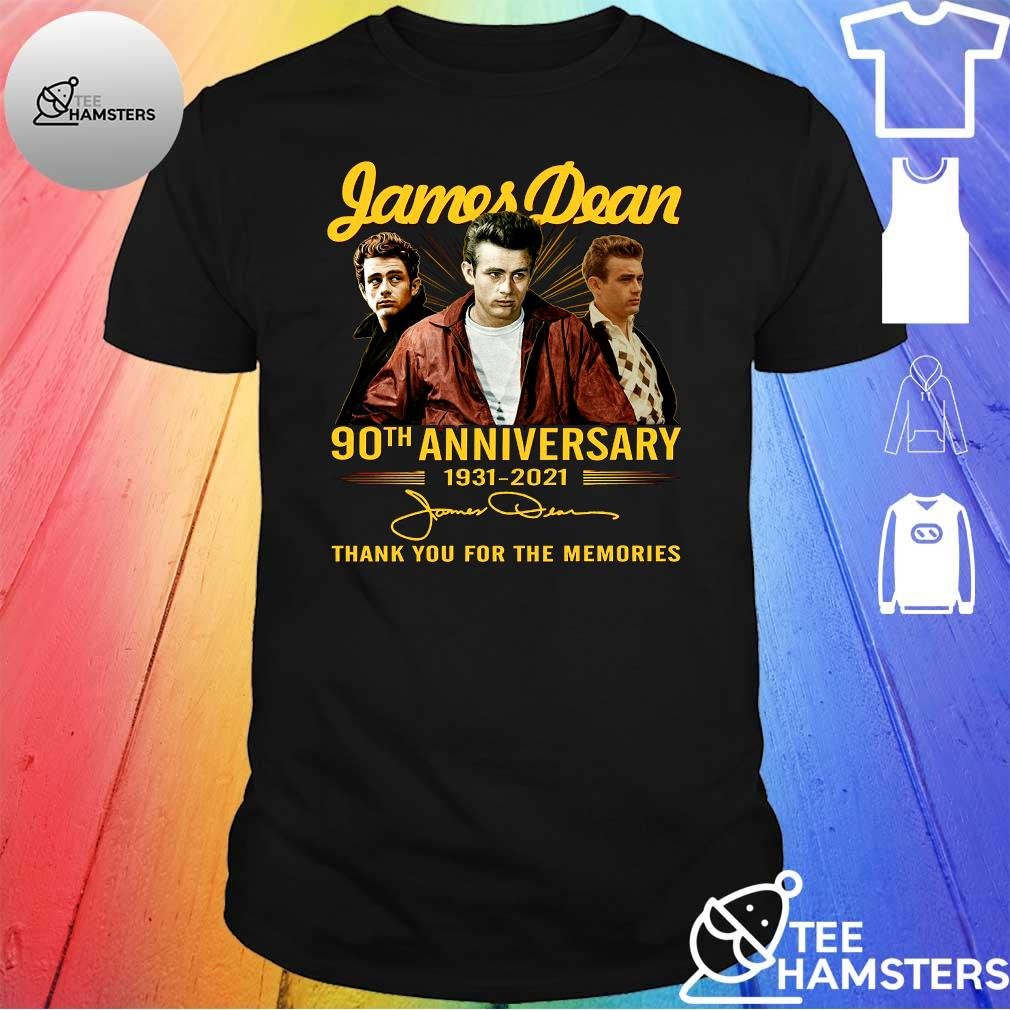 Jamesdean 90th anniversary 1931 - 2021 thank you for the memories shirt