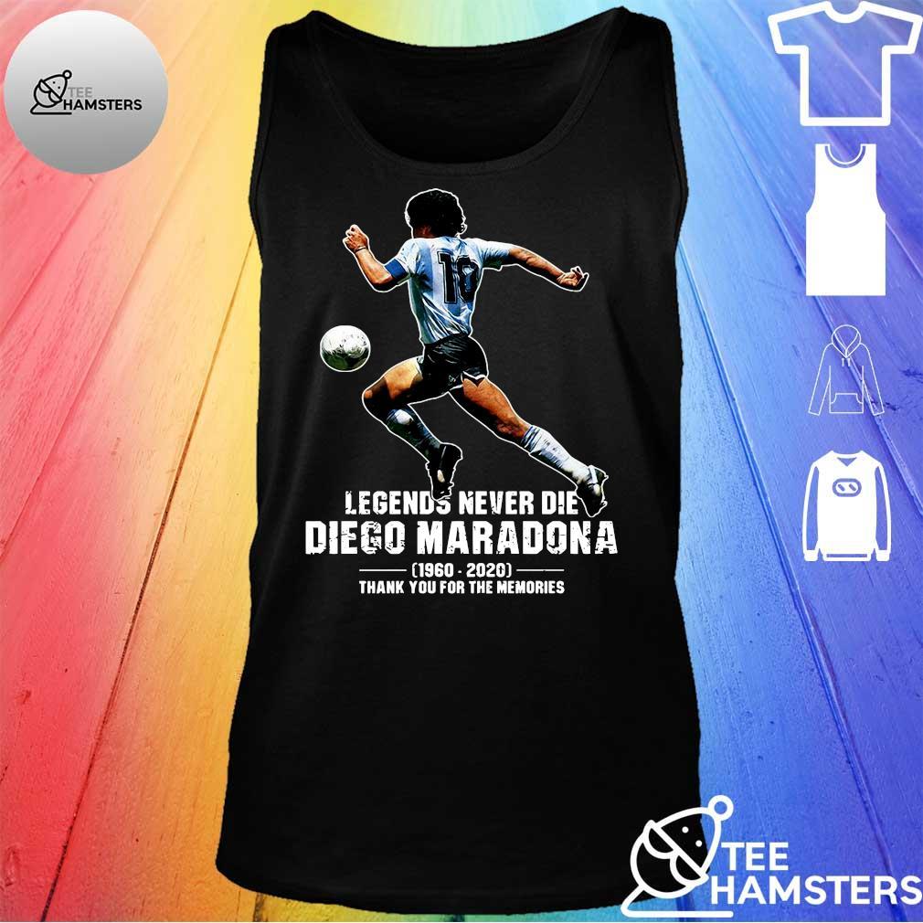 Legends never die diego maradona 1969 - 2020 thank you the memories s tank top