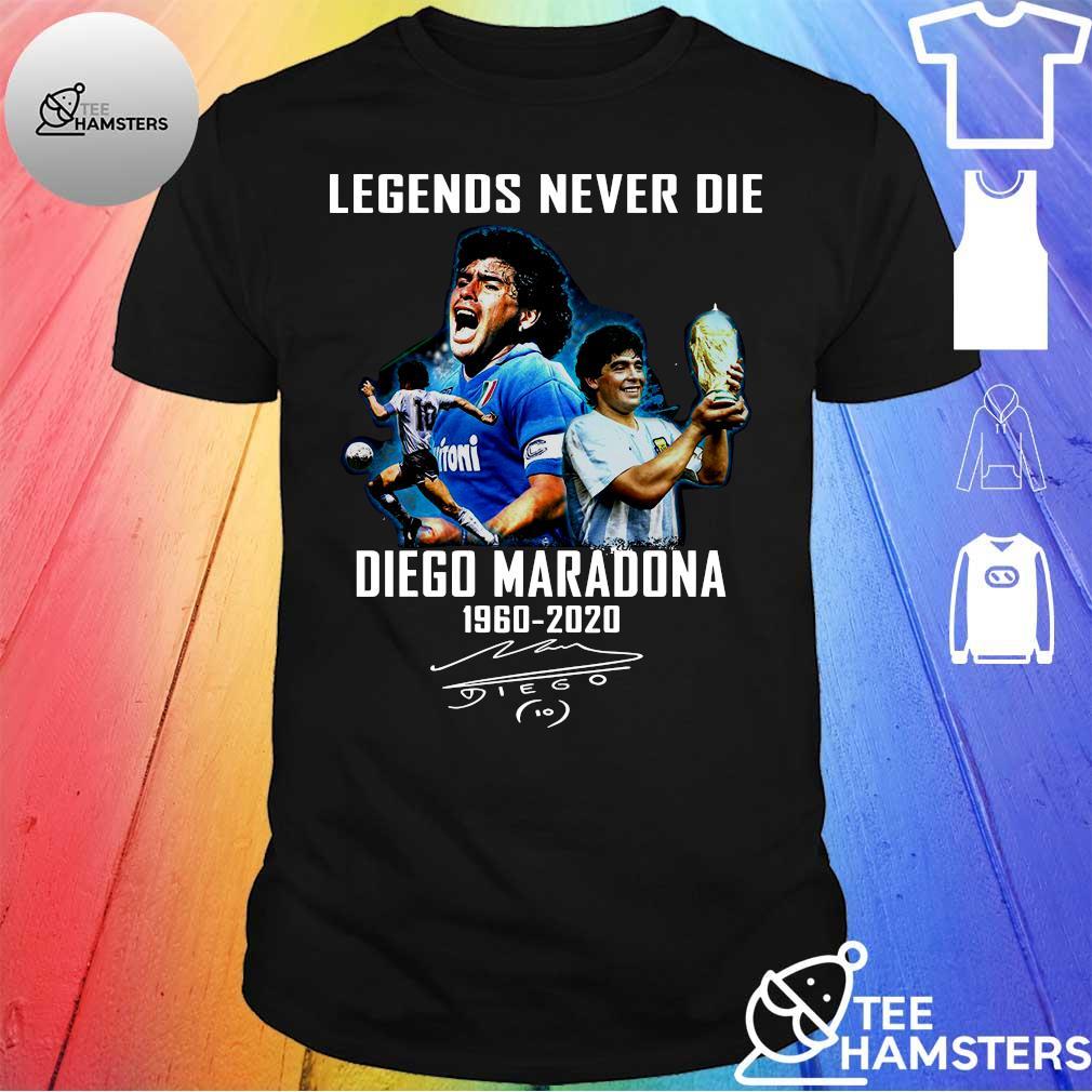 Legends never die maradona 1960 - 2020 shirt