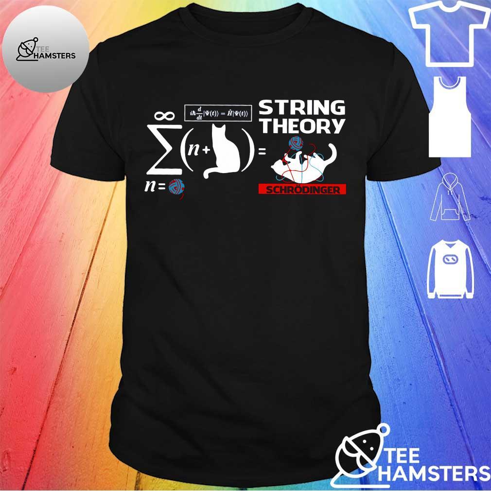 Cat string theory schrodinger shirt