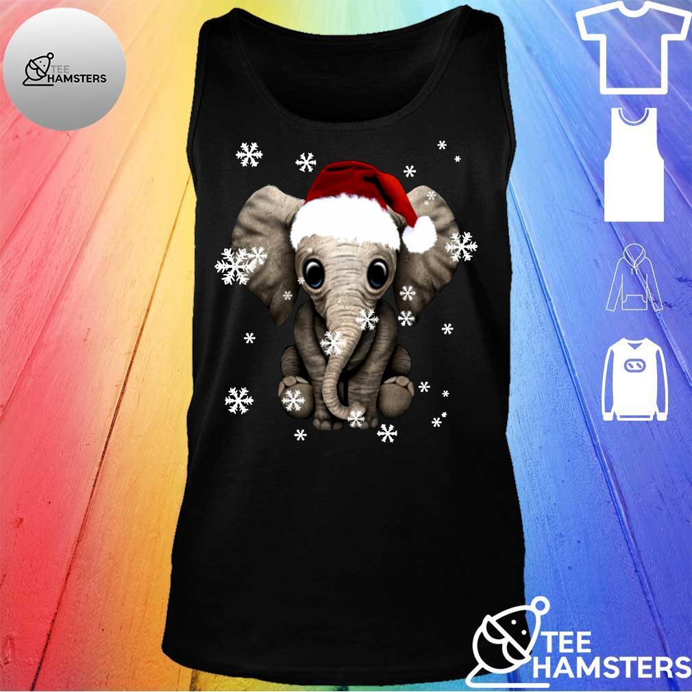 Elephant Christmas Ugly Shirt tank top