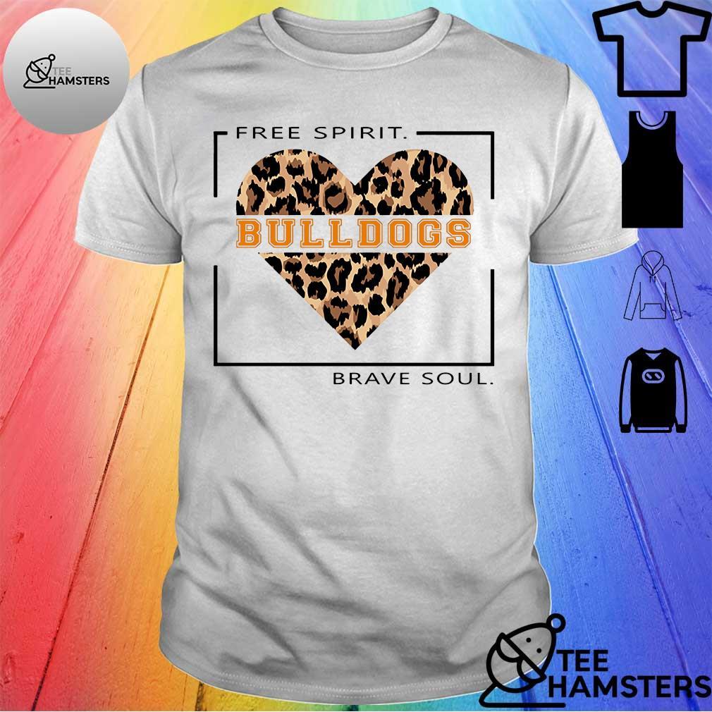 Free spirit bulldogs brave soul shirt