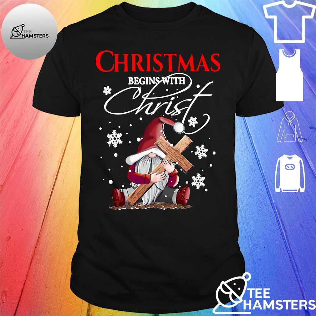 Gnome christmas begins with christmas shirt