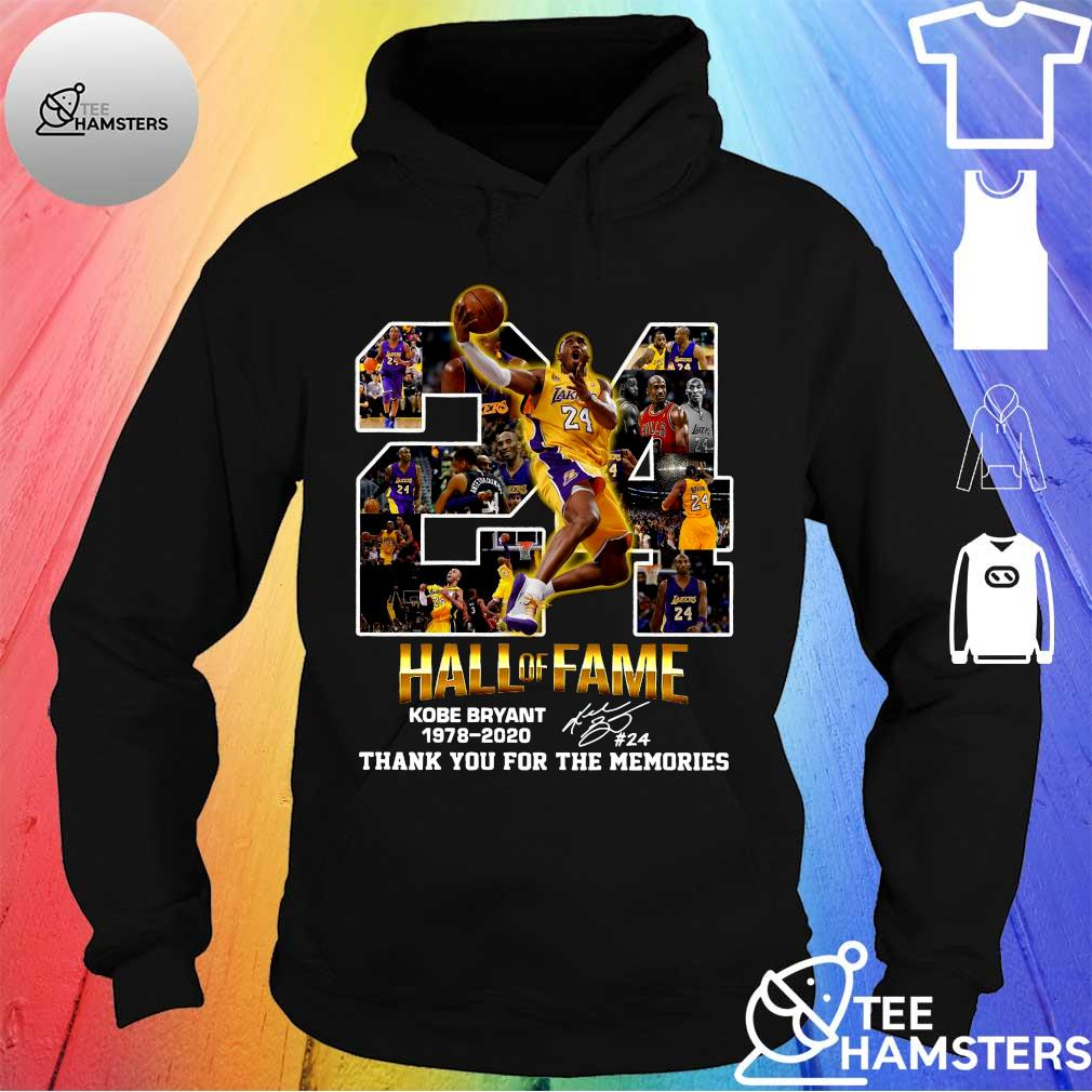 24 hall of fame kobe bryant 1978-2020 thank you for the memories s hoodie