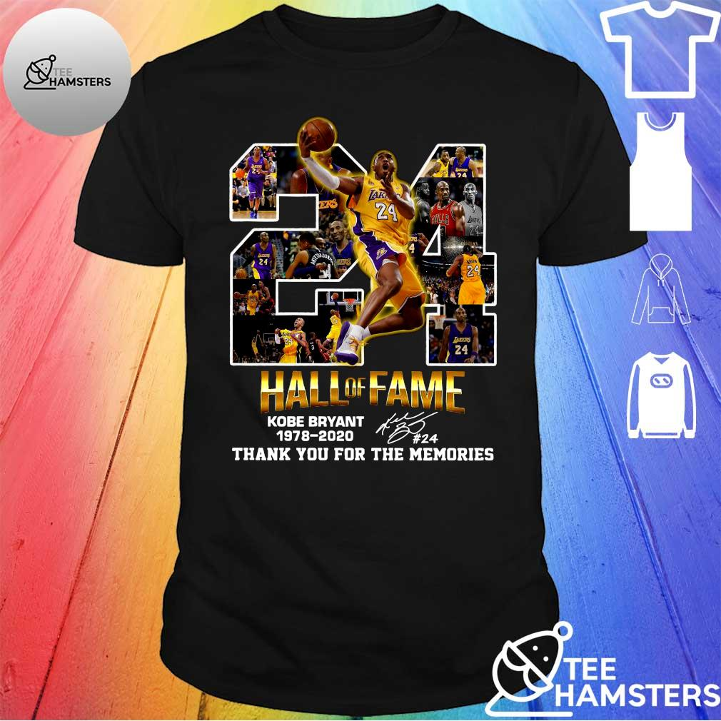 24 hall of fame kobe bryant 1978-2020 thank you for the memories shirt