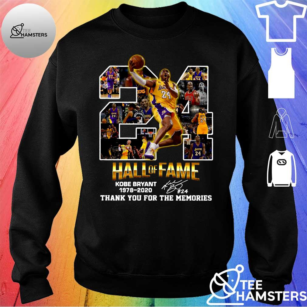 24 hall of fame kobe bryant 1978-2020 thank you for the memories s sweater