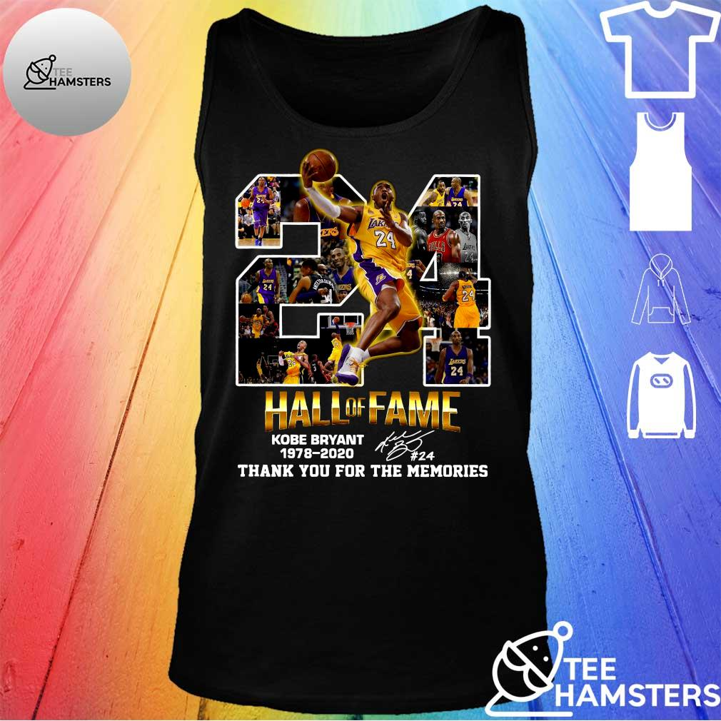 24 hall of fame kobe bryant 1978-2020 thank you for the memories s tank top