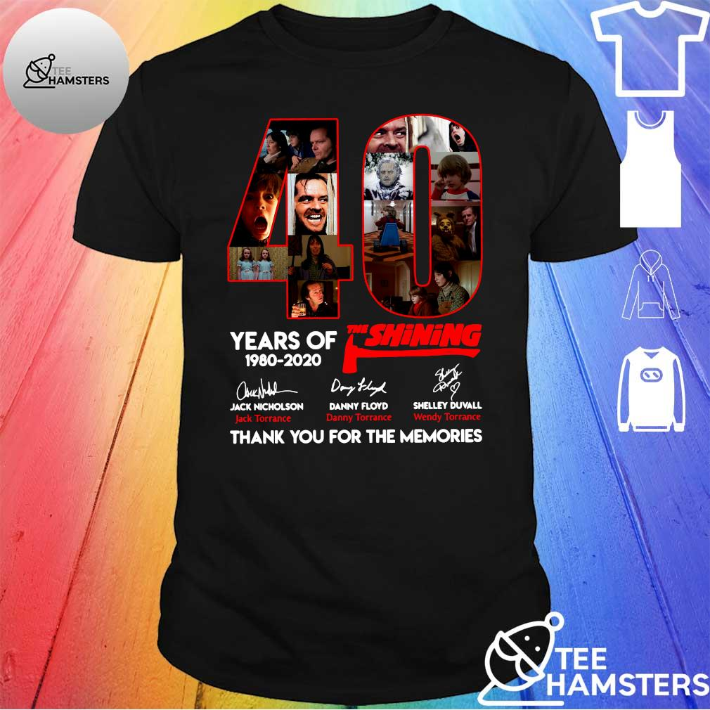 40 years of The Shining 1980-2020 thank you for the memories shirt