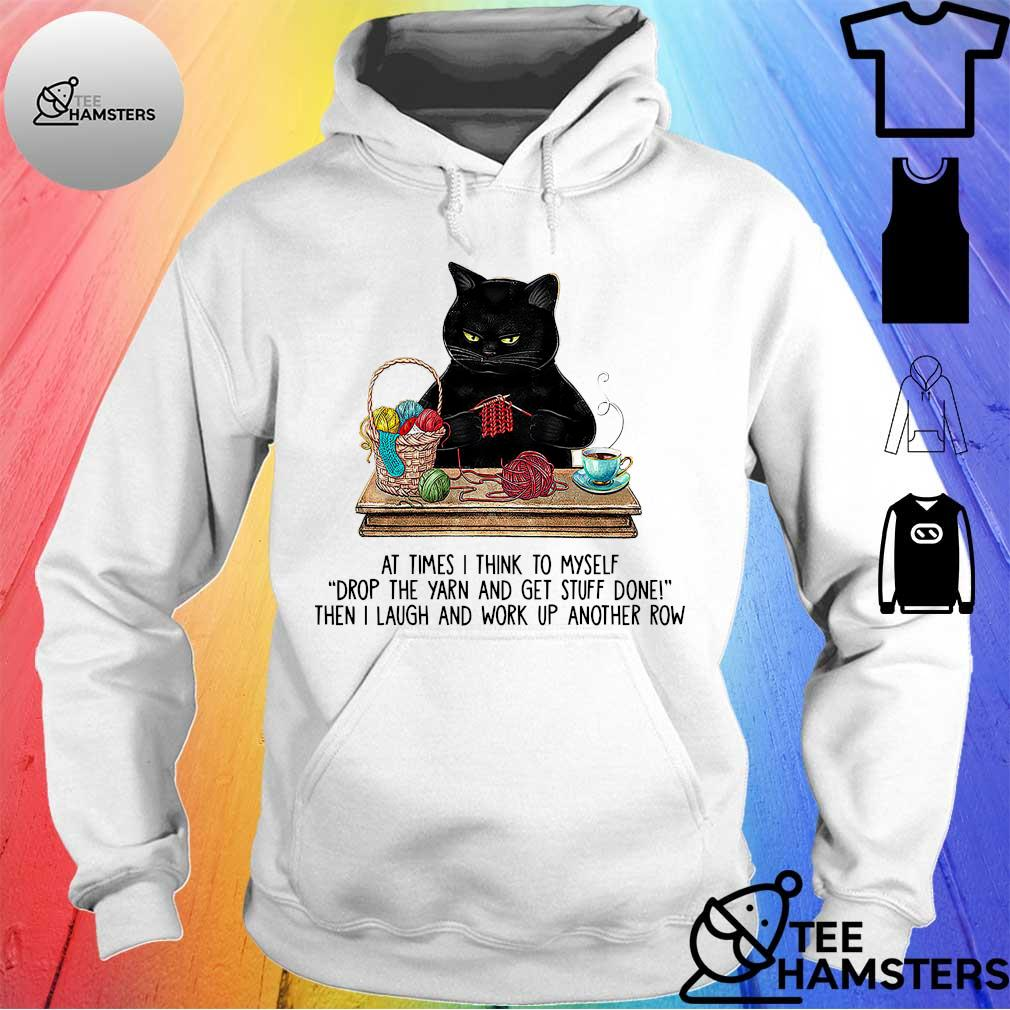 Official black cat at times think to myself s hoodie
