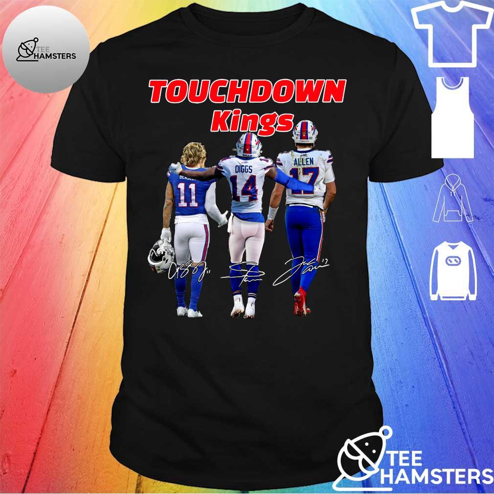 Touchdown Kings Buffalo Bills Diggs Allen Beasley Signatures shirt