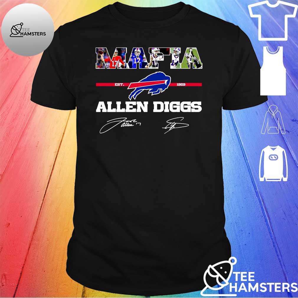 Buffalo Bills Mafia Allen Diggs est 1959 signatures shirt