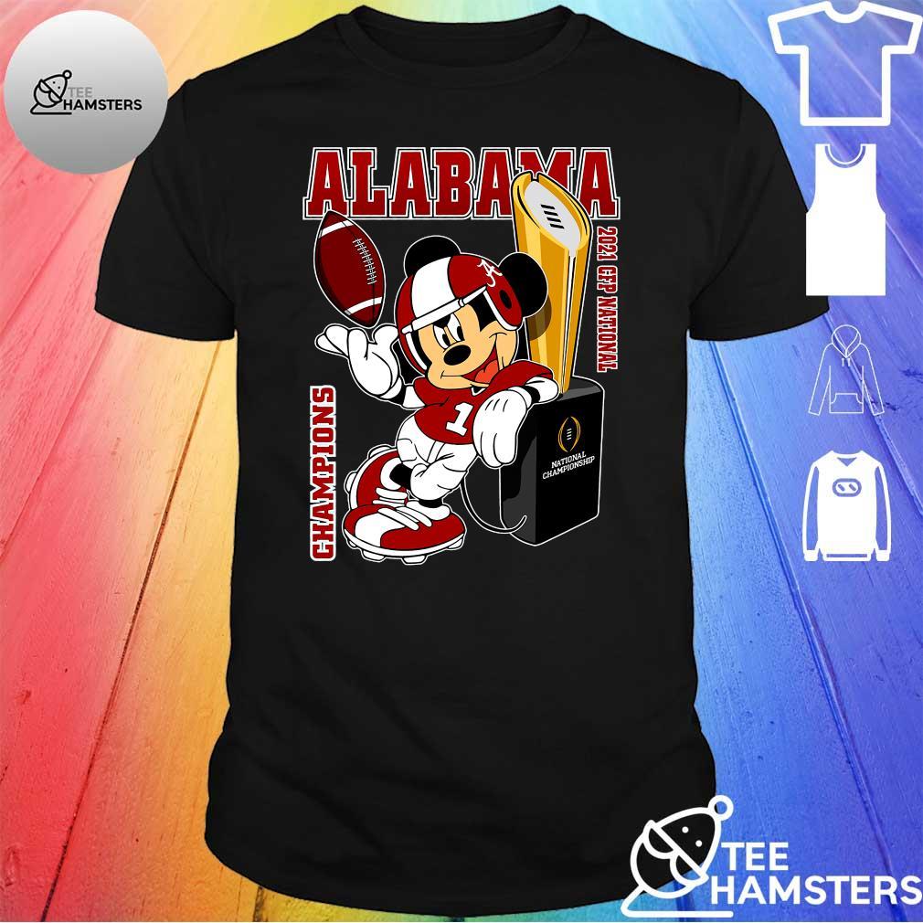 Mickey Mouse Alabama Crimson Tide 2021 CFP National Champions Shirt
